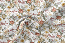 Load image into Gallery viewer, Personalized Jersey Knit Swaddle - Vintage Floral - the Harlow collection - The Little Arrows