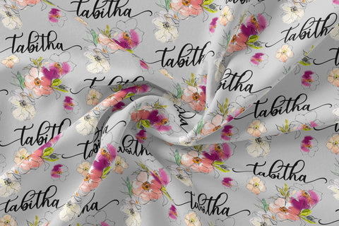 Personalized Jersey Knit Swaddle - Tabitha floral
