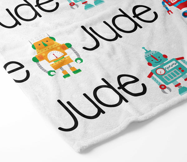Personalized Plush Blanket - Robot