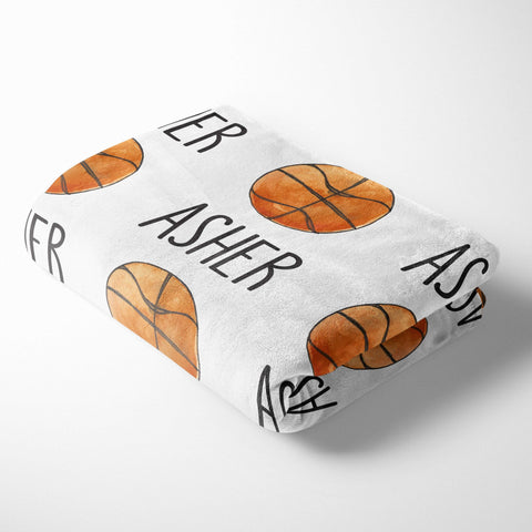 Personalized Kid Blanket - Basketball