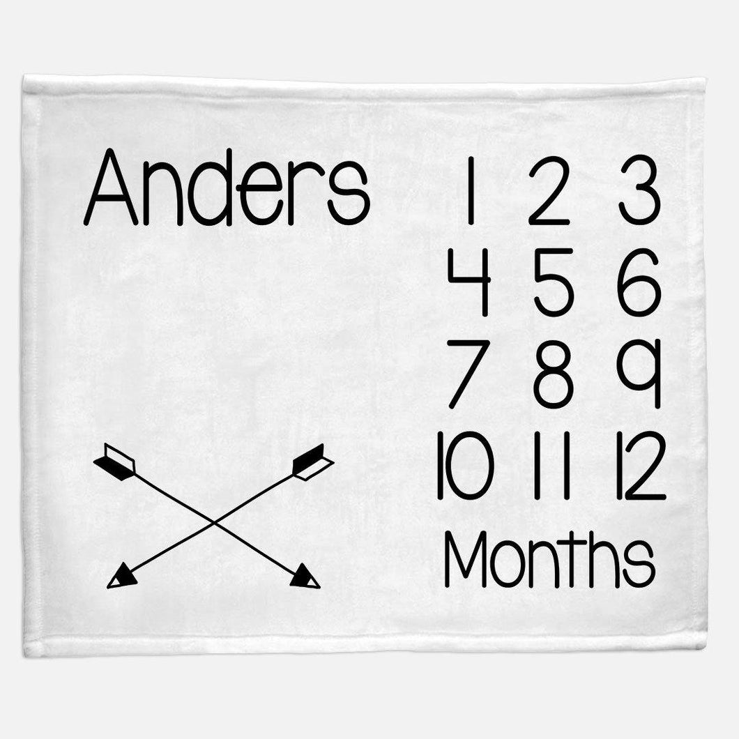Milestone / Monthly Blanket - Crossed Arrows - The Little Arrows