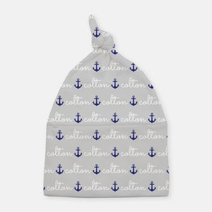Knotted Beanie - personalized - anchor