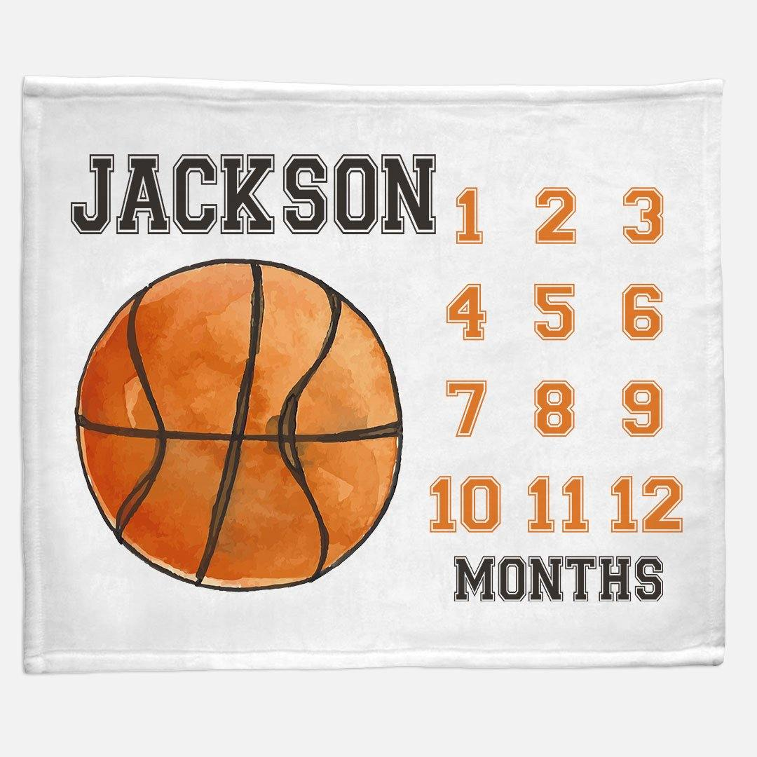Milestone / Monthly Blanket - Basketball