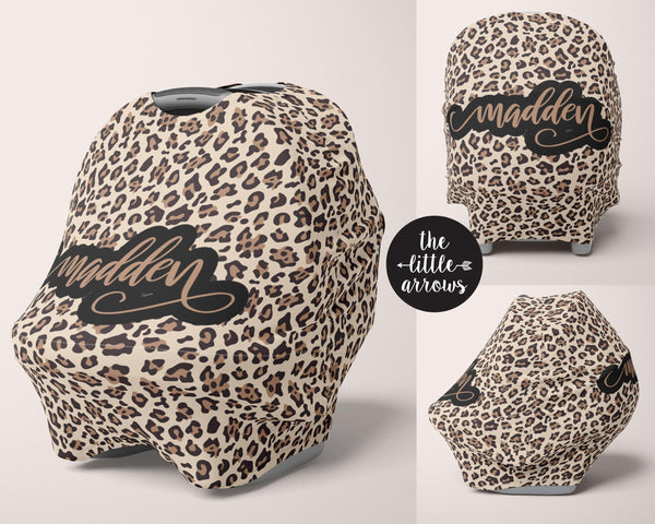 Car Seat Cover / Multi Use Cover - Leopard