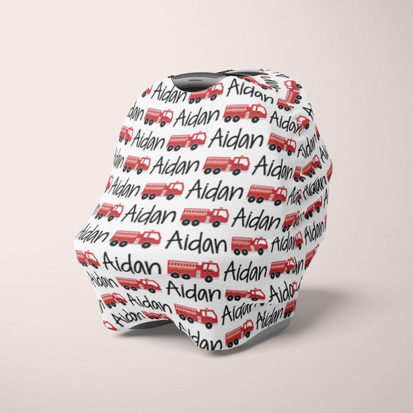 Car Seat Cover / Multi Use Cover - Firetruck