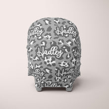 Load image into Gallery viewer, Car Seat Cover / Multi Use Cover - Gray Leopard - The Little Arrows