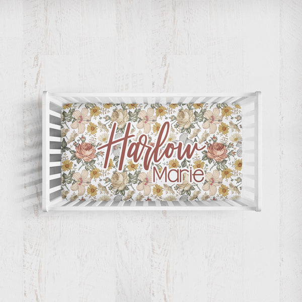 Personalized Crib Sheet - the Harlow collection
