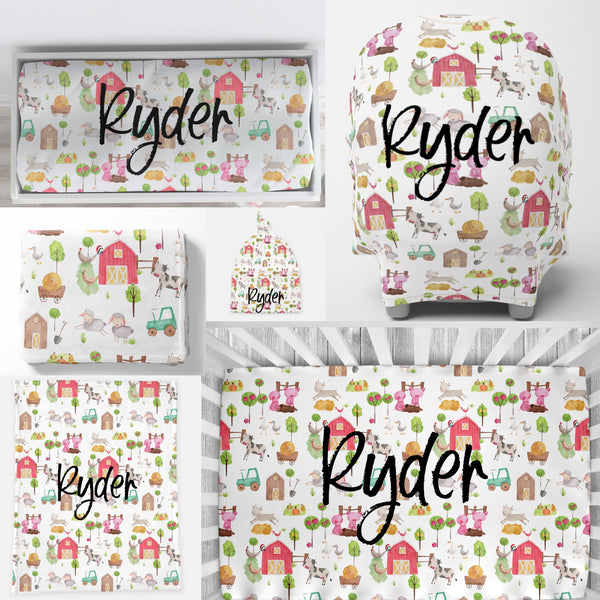 Personalized Crib Sheet - Ryder's Farm