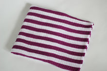 Load image into Gallery viewer, Purple Rose Striped Muslin Blanket