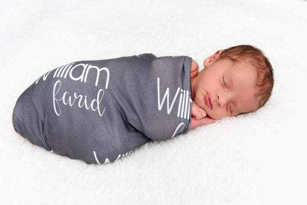 Personalized Jersey Knit Swaddle