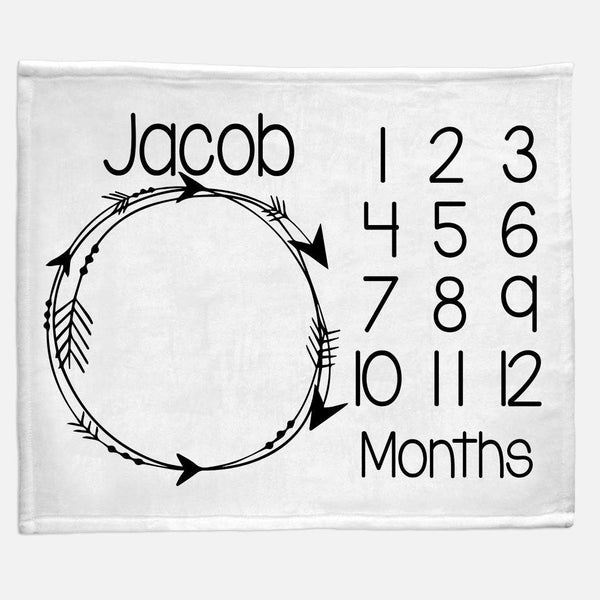 Milestone / Monthly Blanket - Circle Arrows