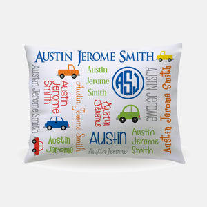 Pillow Case - standard size - All Over Cars
