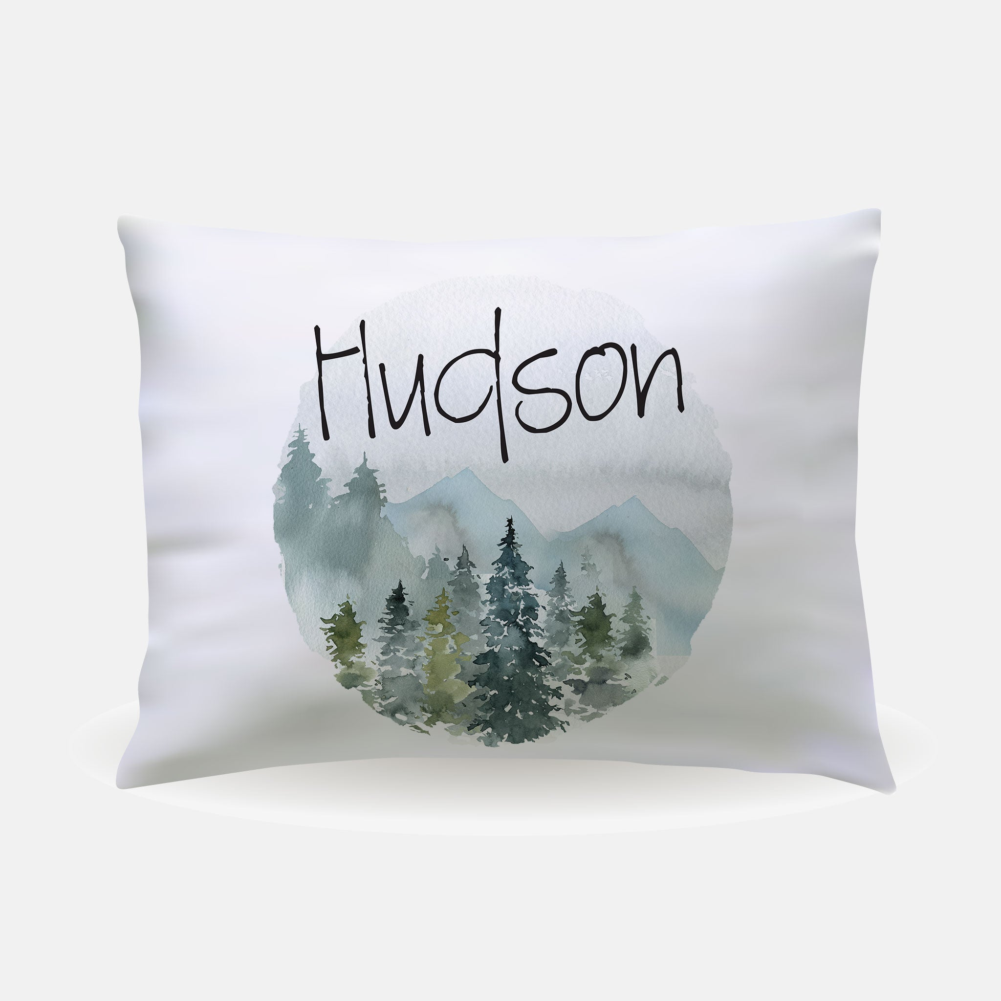 Pillow Case - standard size - Mountains and Trees