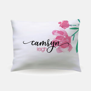 Pillow Case - standard size - Single Flower