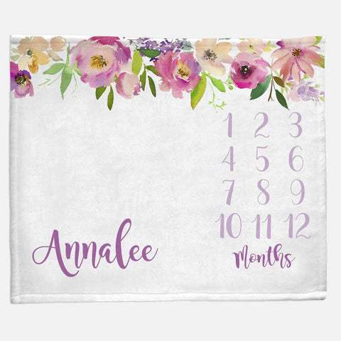 Milestone / Monthly Blanket - Floral Top