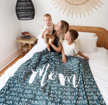 Load image into Gallery viewer, Mom Blanket - Mom Gift - Mothers Day Gift - Personalized Mom Blanket - Personalized Blanket - Gifts for Grandma - Blanket - Grandma Gift