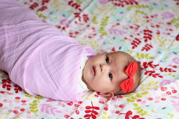 *Solid Pink Swaddle