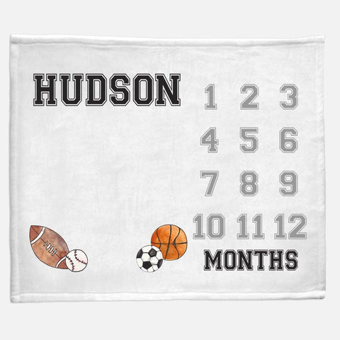 Milestone / Monthly Blanket - Sports