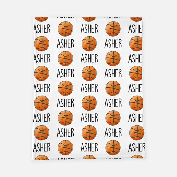 Personalized Plush Blanket - Basketball