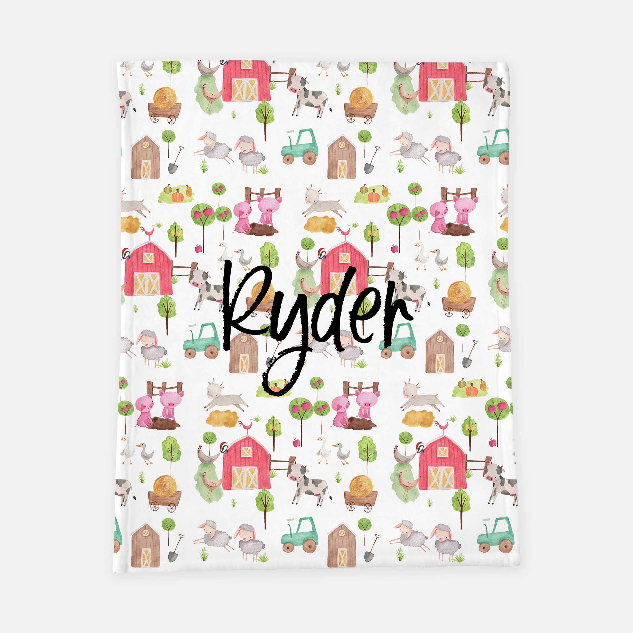Personalized Plush Blanket - Ryder's Farm