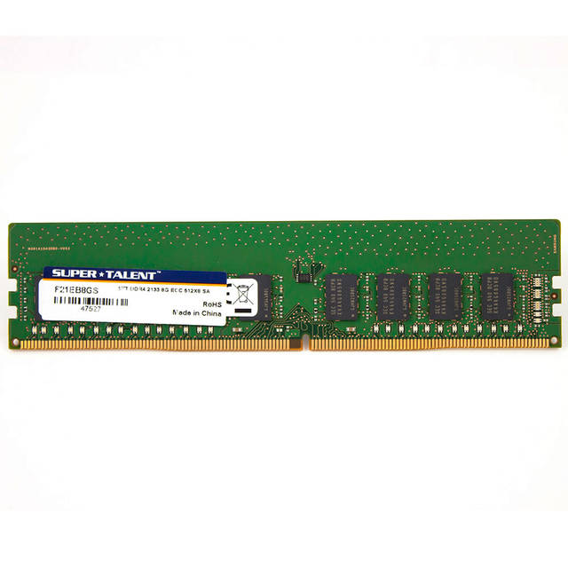 Super Talent DDR4-2133 8 GB de memoria / 512Mx8 ECC Chip Samsung CL15 servidor