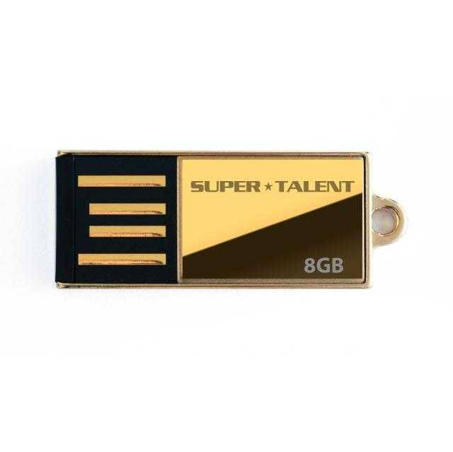 Super Talent Pico-C Edition de 8 GB Gold Limited USB 2.0 Flash Drive