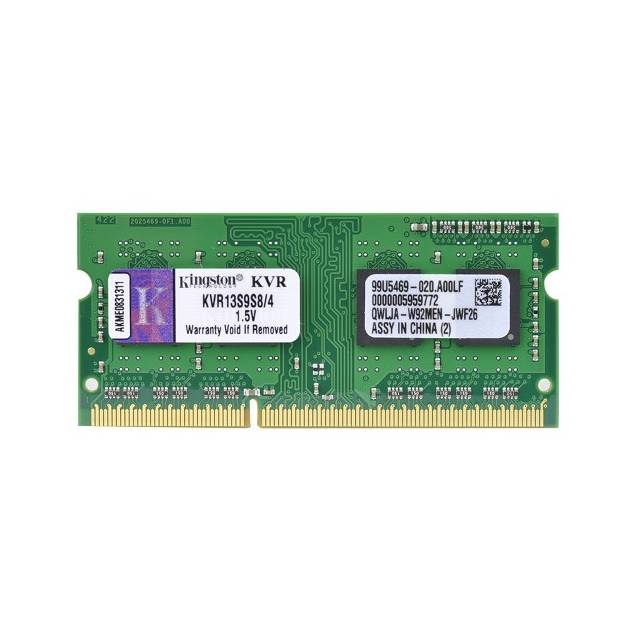 Kingston ValueRAM KVR13S9S8 / 4 DDR3-1333 SODIMM 4GB / 512Mx64 CL9 memoria portaetil