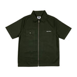 SHORT SLEEVE WORK SHIRT (DARK OLIVE)