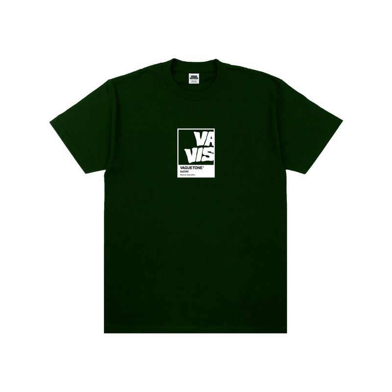 COLOR CARD TEE (FOREST GREEN)