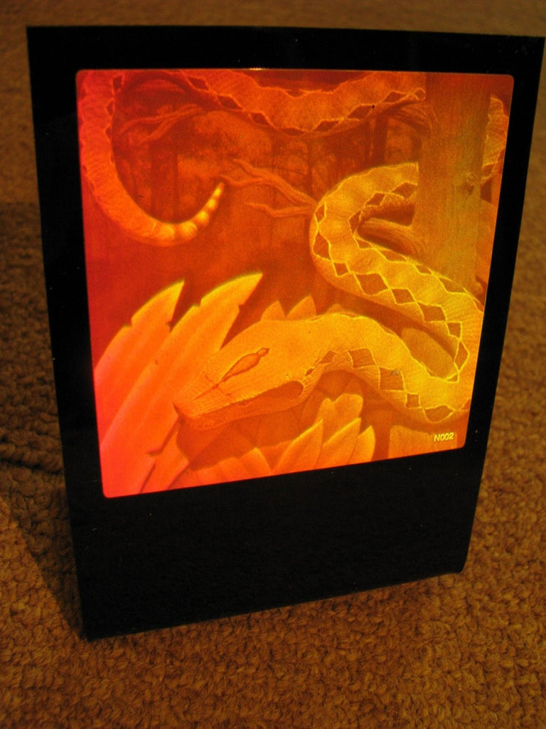 Snake 3D Hologram Lucite Deskstand, Collectible Polaroid Photopolymer Film