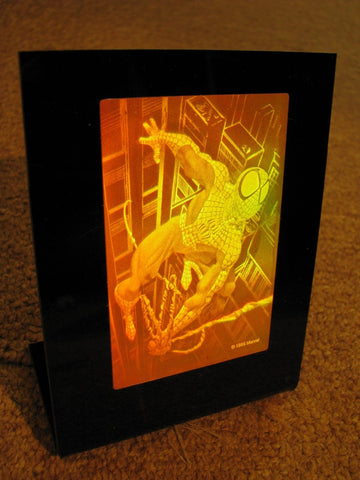 3D Spiderman Hologram Polaroid Photopolymer Deskstand, A Collectible For Cinema Lovers