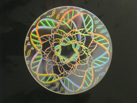 DNA Matted Hologram Picture, 3D Embossed Type