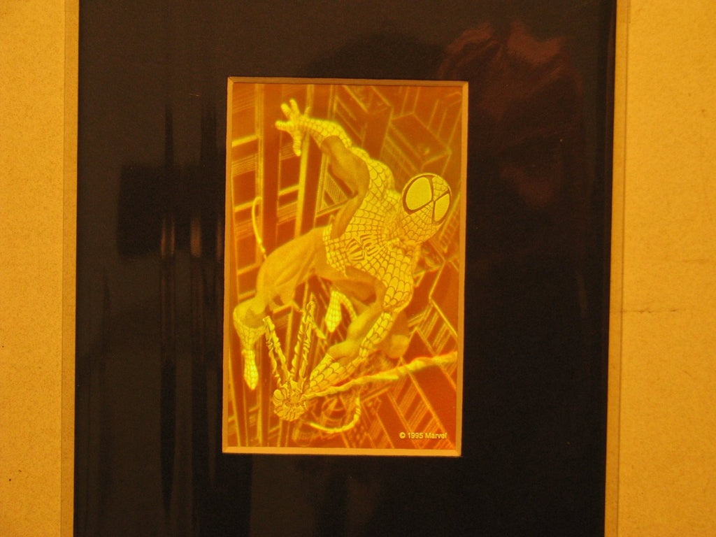 3D Spiderman Matted Hologram Picture, Collectible Polaroid Photopolymer Film