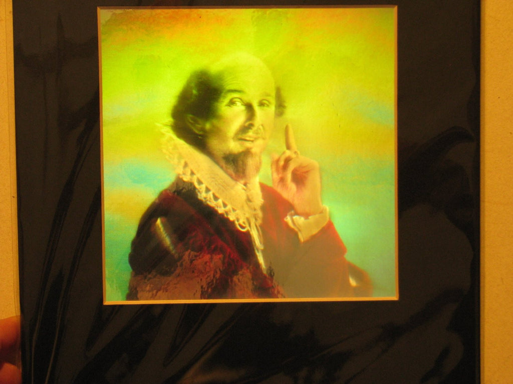 Shakespeare Matted Hologram Picture, 3D Embossed Type Animated Stereogram