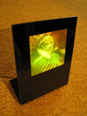 3D High Tech Man Polaroid Photopolymer Film Holographic Deskstand, Cool Gift for Tech-Lovers