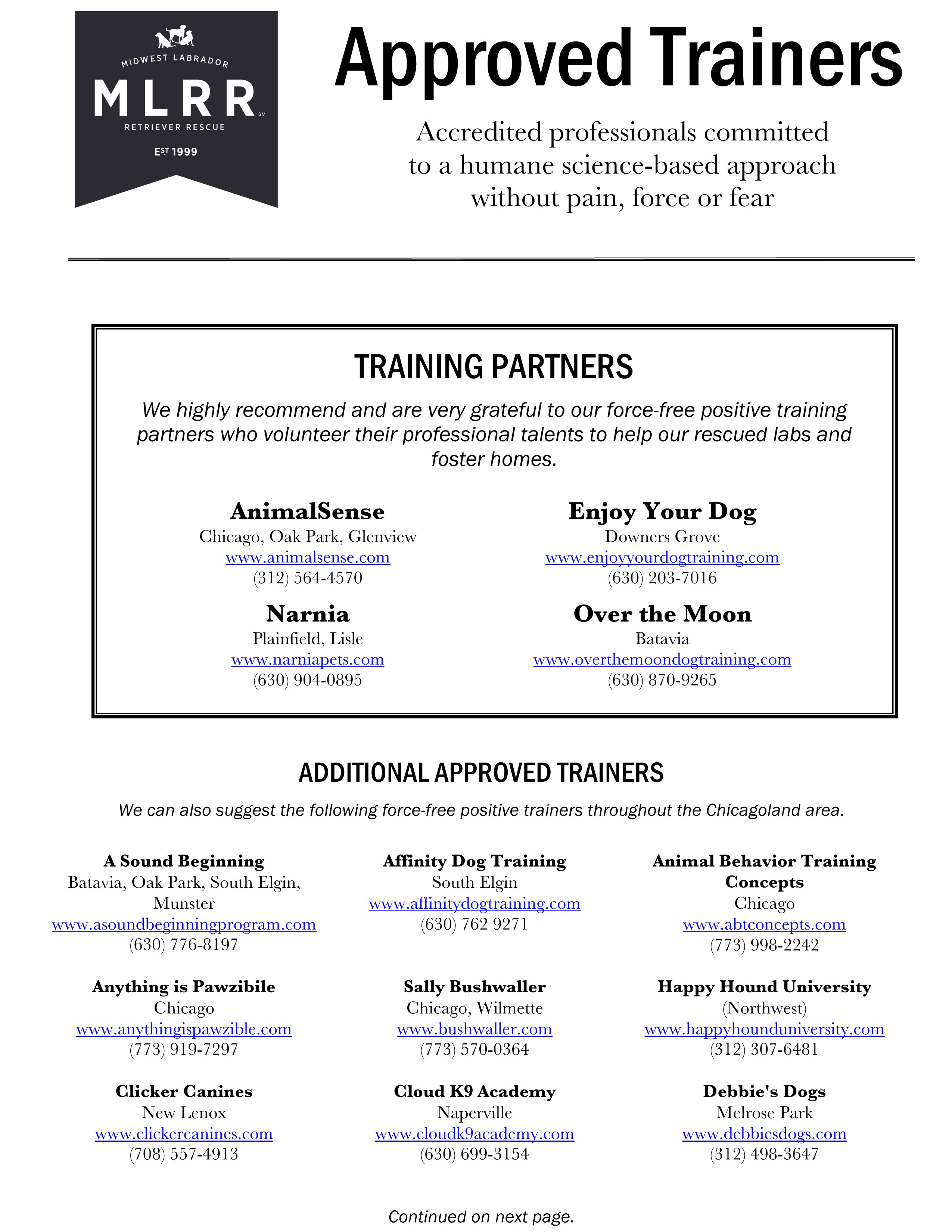 Approved Trainer Handout p.2