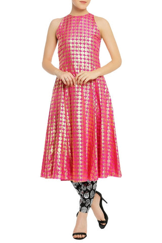 Coin Stamp Kurta with Printed Trouser Pants