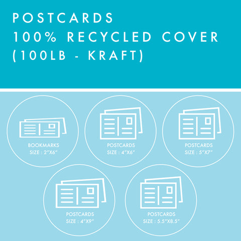 Postcards - 100% Recycled Cover - Kraft