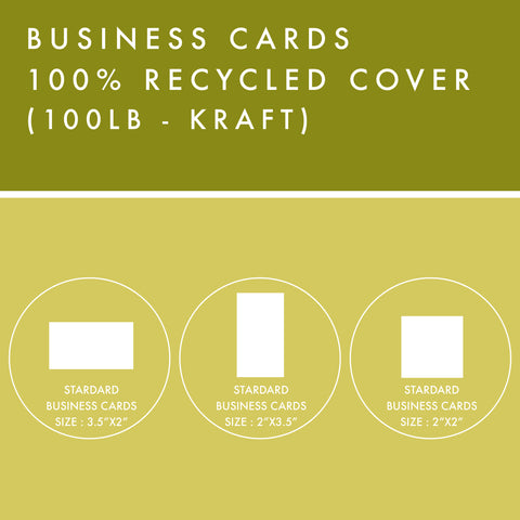 BC - 100% Recycled Cover - Kraft