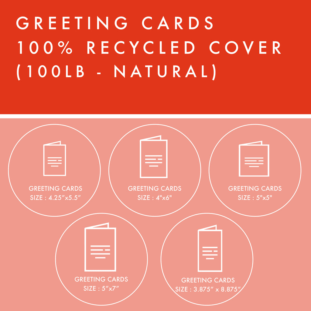 Greeting Cards - 100% Recycled Cover - Natural