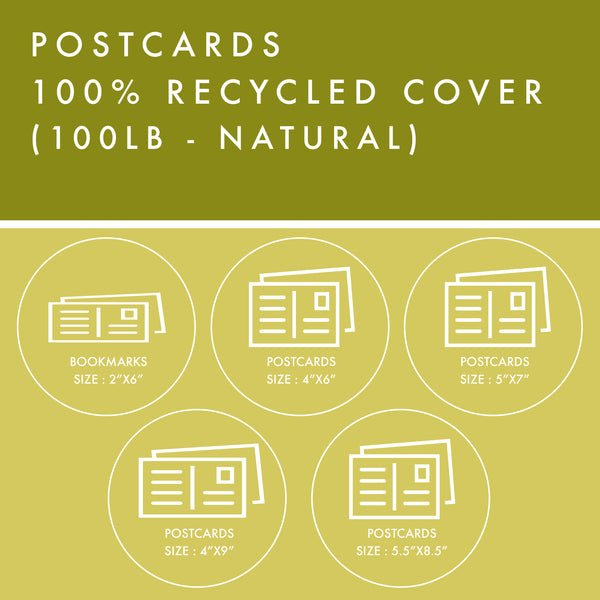Postcards - 100% Recycled Cover - Natural