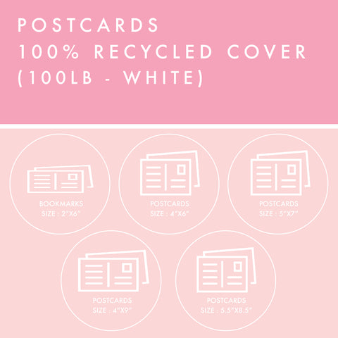 Postcards - 100% Recycled Cover - White