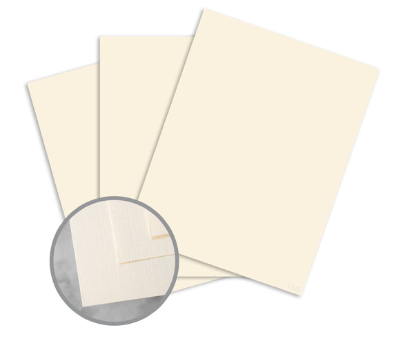 Greeting Cards - 100lb Classic Linen Cover - Natural