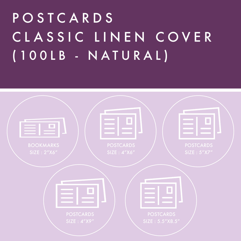 Postcards - 100lb Classic Linen Cover - Natural