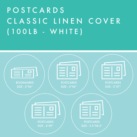 Postcards - 100lb Classic Linen Cover - White