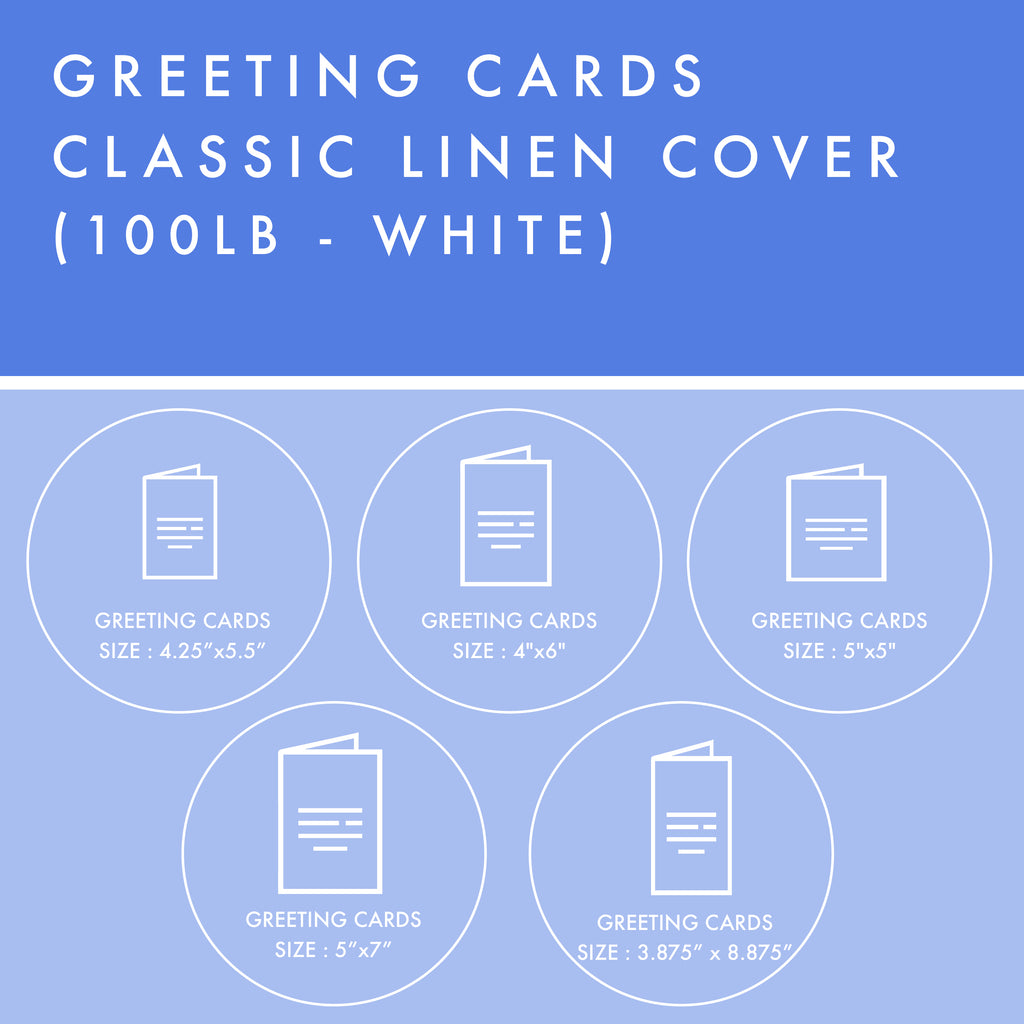 Greeting Cards - 100lb Classic Linen Cover - White