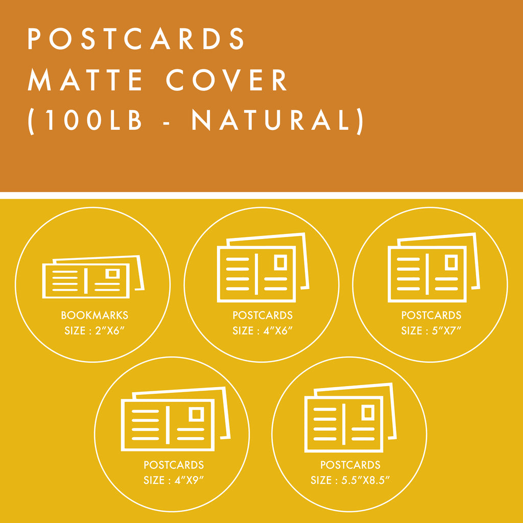 Postcards - 100lb Matte Cover - Natural
