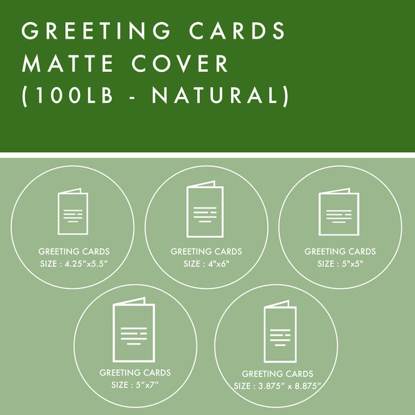 Greeting Cards - 100lb Matte Cover - Natural