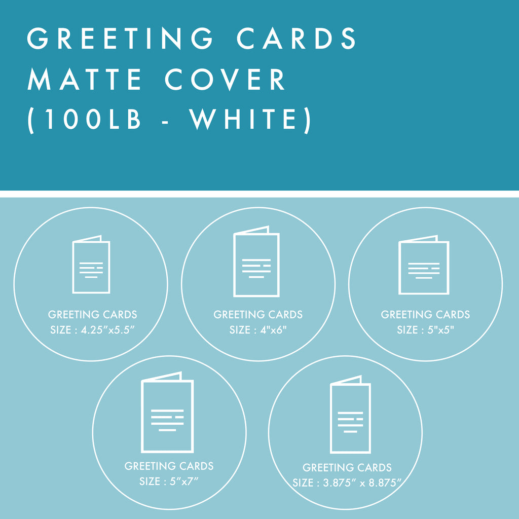 Greeting Cards - 100lb Matte Cover - White