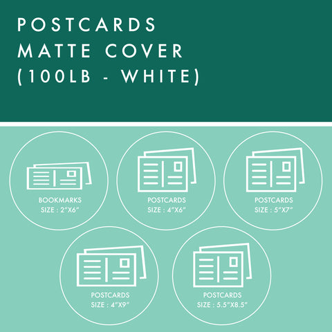 Postcards - 100lb Matte Cover - White